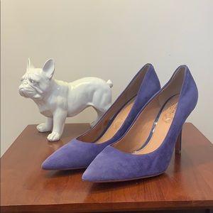 Blue Coach Heels